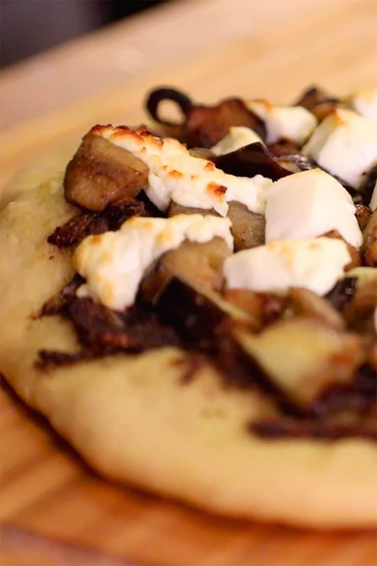 Eggplant & Goat Cheese Flatbread