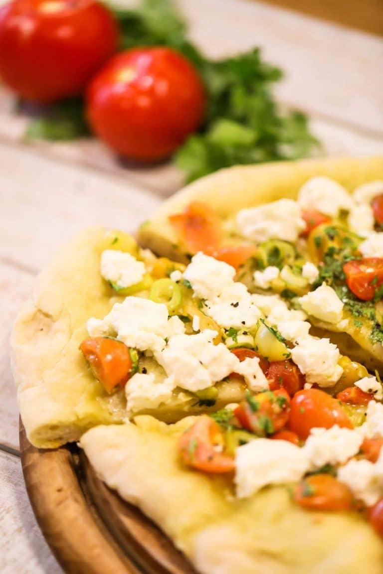 Summer BBQ Fresh Bruschetta Pizza