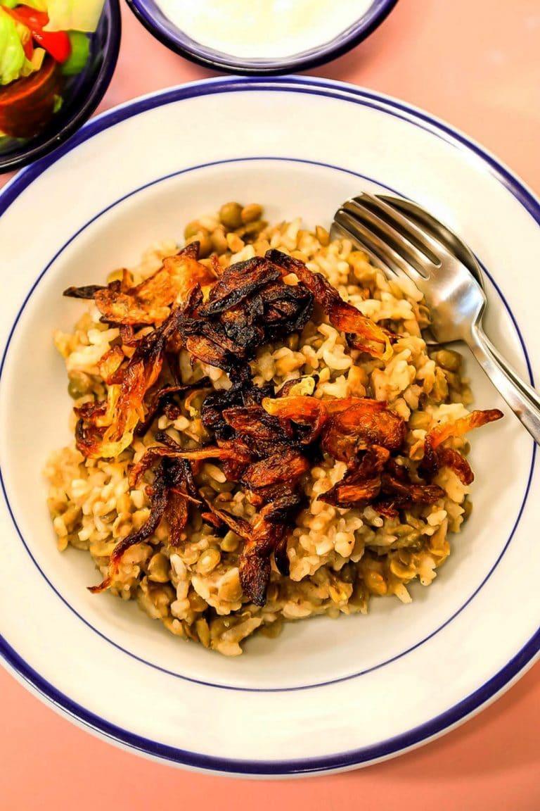 Mujadara (Lentils, Rice & Crispy Onions)