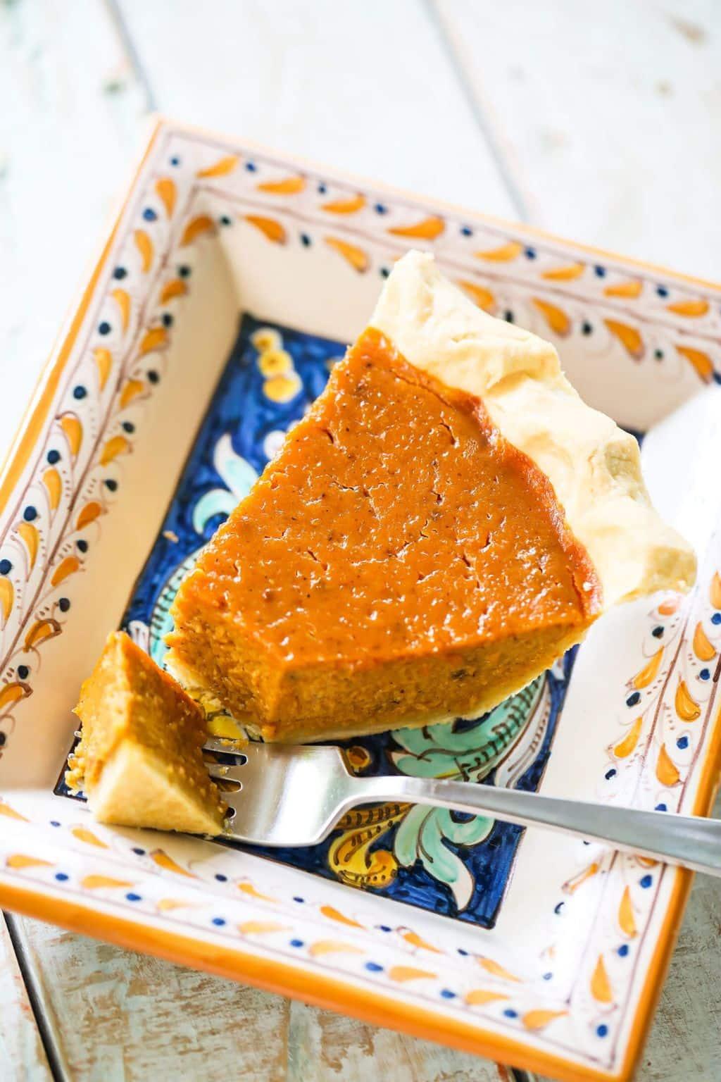 Much Loved Pumpkin Custard Pie