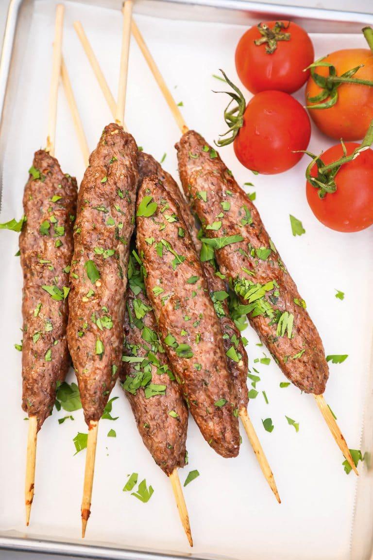 Kafta (Lebanese Grilled Beef Kebabs)