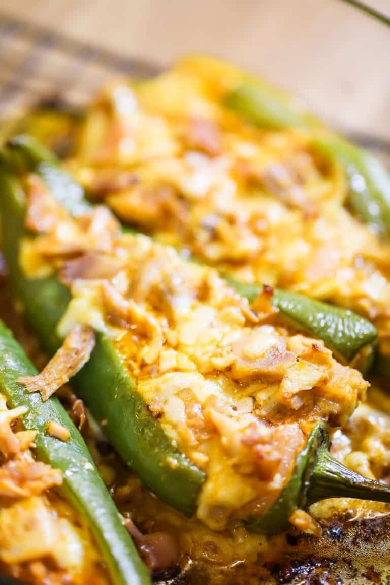Buffalo Chicken Stuffed Peppers (Cheesy & Delicious)